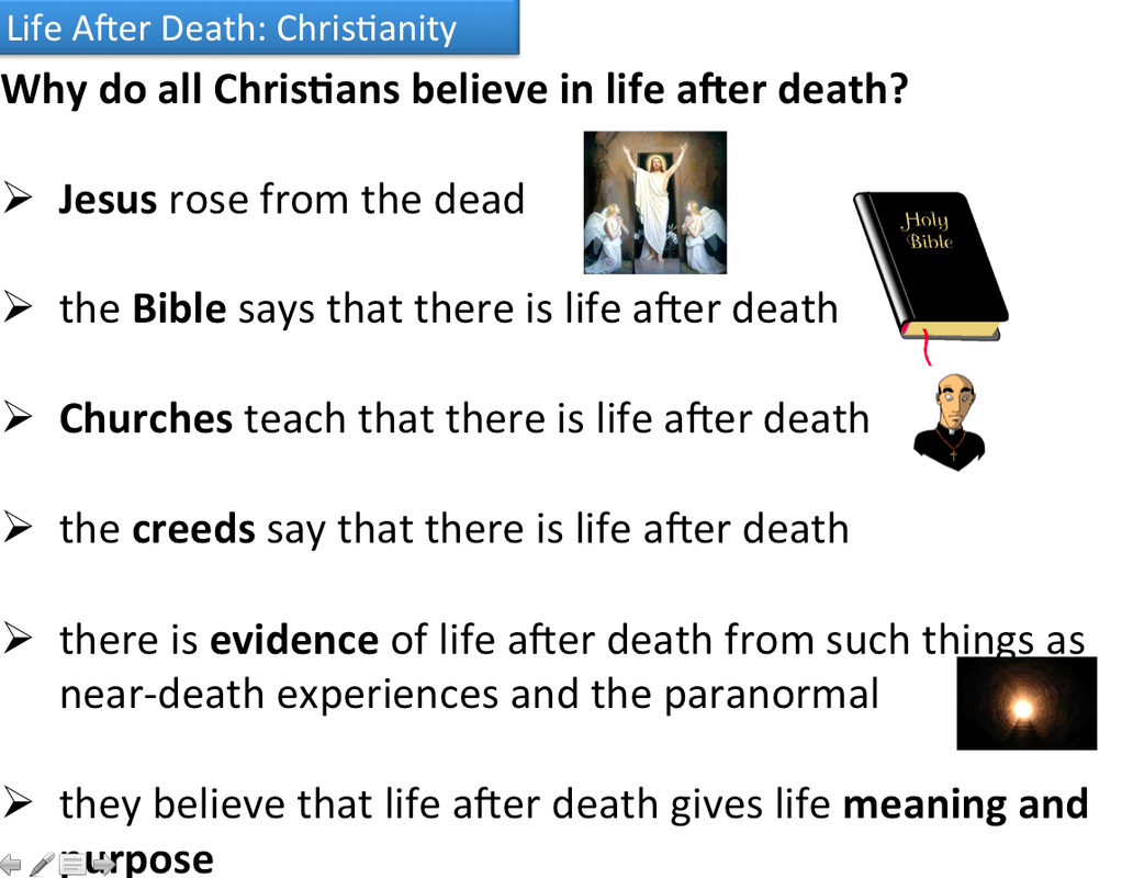 is there life after death essay Life after death essay a) examine the key concepts for the afterlife associated with resurrection and reincarnation (18) different cultures and traditions is developed and it was thought that at death the person goes back to earth for a period of time which there is nothingness where god decided to end the world article shared by the after- life.